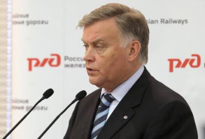 The Predisend of Russia Railways Vladimir Yakunin