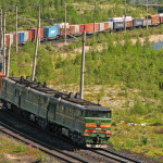 There was first container train dispatch on route of the Big Port of St. Petersburg – Vorsino station
