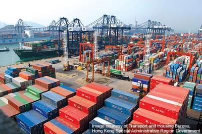 Порт Гонконг — динамика контейнерооборота