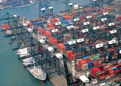 Порт Гонконг - снижение контейнерооборота