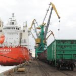 В I квартале 2017 года основная доля грузов доставлялась в морские порты железнодорожным транспортом