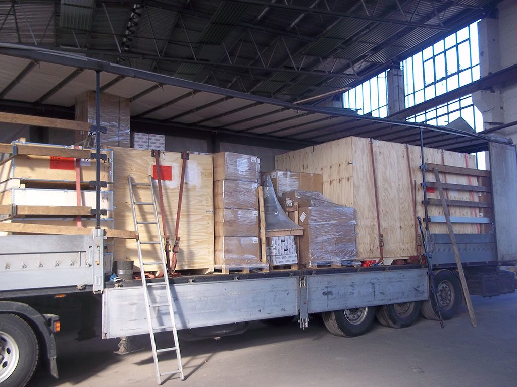Погрузка на складе отправителя завершена